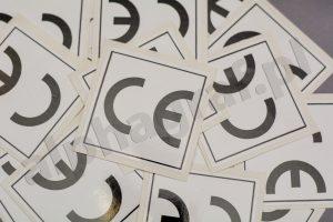 etykiety przylepne CE
